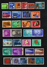 ZAMBIA #4//J6 Mint Hinged 43 Different Stamps SCV $26.45