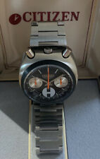 rare vintage citizen Bullhead Chronograph 8110A MENS Wrist Watch