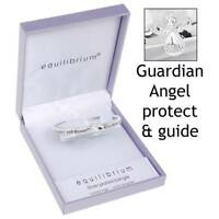 GUARDIAN ANGEL PROTECT AND GUIDE SILVER PLATED BRACELET BANGLE GIFT 7101