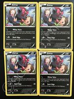 4 Zorua 90/162 Playset XY Breakthrough Pokemon Card TCG MINT CONDITION