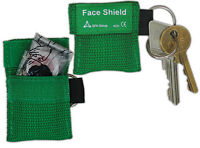 RESUSCITATION CPR FACE SHIELD IN KEY FOB - EMERGENCY MOUTH TO MOUTH