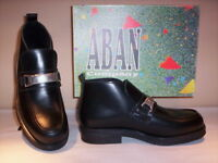 Scarpe alte polacchini scarponcini Aban bimba bambina casual pelle neri 30 32 33