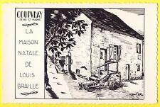 cpsm 77 - COUPVRAY La MAISON NATALE de Louis BRAILLE par Jean ROBLIN