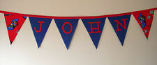 Grand Prix Personalised Fabric Bunting Birthday Christening Party Decoration