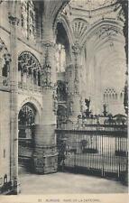 Postcard Spain Burgos Cathedral Catedral de Santa María de Burgos Nave 1920s