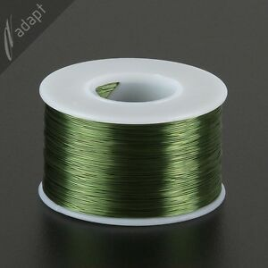 29 AWG Gauge Magnet Wire Green 1250' 155C Enameled Copper Coil Winding