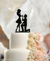 Cake Topper Fiance & Fiancee Engagement high-quality cake topper silhouette