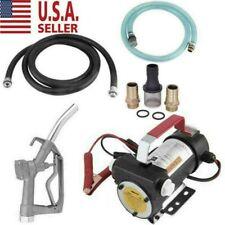 Us Electric Fuel Transfer Pump Diesel Kerosene Oil Commercial Auto With Nozzle 12v