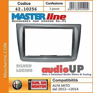 MASCHERINA AUTORADIO 2 DIN ALFA ROMEO MITO FINO AL 2012. ADATTATORE DOPPIO DIN