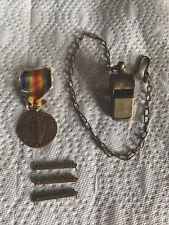 New listing Ww1 Brass Trench H. Phila Whistle and Medal with 3 bars