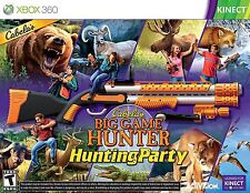 New Cabela's Big Game Hunter Hunting Party w Gun Xbox 360 Top Shot Sport Kinect