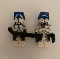 Lot Of 2 Lego Star Wars Captain Rex Clone Army Customs CAC PRINTED ON LEGO!