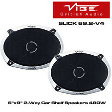 "Vibe Slick 69.2-V4 - 2-Way 6""x9"" Coaxial Car Shelf Speakers 480W"