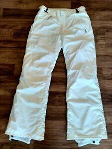 Columbia Omni Tech Waterproof Ski Snow Snowboard Pants White Sz M Women's