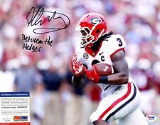 Todd Gurley Signed 11x14 Photo Rookie RC PSA BETWEEN THE HEDGES 1/1 Auto SP Rams