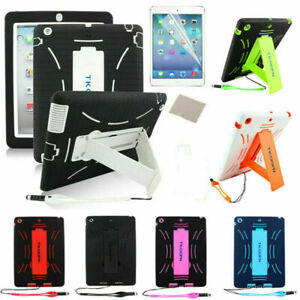 US Hybrid Shockproof Duty Hard Case Stand Cover Skin Shell for iPad 4 3 2/Air 1