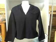 Vintage Navy Blue Navy Wool Sailor Top Seikufu Collar Jacket Size 42
