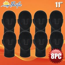 Male Styrofoam Foam Black Mannequin Head Display Wig Hat Glasses 8pc
