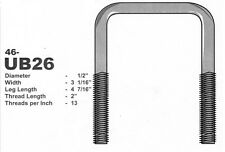 """Stainless Steel 1/2"""" U-Bolt 3 -1/16"""" X 4-7/16"""" Square"""