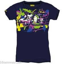 Official Valentino Rossi VR46 Navy Woman's / Ladies Top T-Shirt - VRWTS  205702