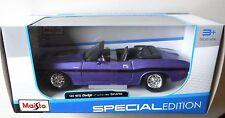 1:24 PURPLE 1970 DODGE Challenger CONVERTIBLE MAISTO Diecast Model Car