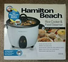 Hamilton Beach 16 Cup Rice Cooker And Food Steamer 37516 Brand New