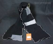 Hand-crafted Black and Gray Cashmere Scarf Made in USA From Repurposed Sweaters