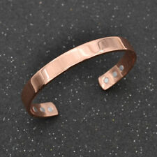 Women Men Copper Magnetic Therapy Bangle Pain Bracelet Relief Jewelry Rose Gold