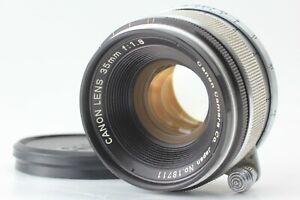 DHL [NEAR MINT] CANON 35mm f/1.8 Lens L39 LEICA SCREW Mount LTM From JAPAN #1289
