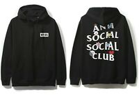 DS Anti Social Social Club ASSC x BT21 White Logo Peekaboo Black Hoodie Supreme