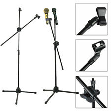 More details for professional boom microphone two mic stand holder adjustable with free carry bag
