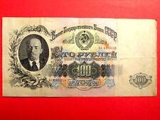 USSR Soviet STALIN tempo Russia, 100 RUBLO BANCONOTA. 1947. buone condizioni