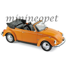 NOREV 188521 1973 VOLKSWAGEN BEETLE 1303 CABRIOLET 1/18 DIECAST MODEL CAR ORANGE