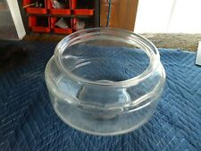 """Vintage Large Clear Glass Low Turtle Fish Bowl Terrarium 12"""" Wide 7"""" Tall"""