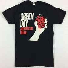 GREEN DAY American Idiot T-Shirt Size SMALL S Black Bay Island Band Tee