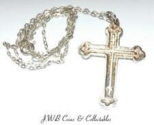 Vintage Silver Cross Pendant & Necklace