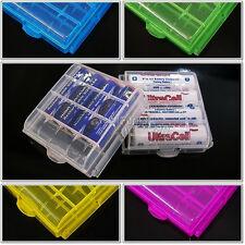 2 stk Neu Energy Batteriebox Aufbewahrungsbox Für AA AAA Akkus Batterie box