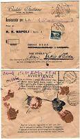 Regno - Imperiale perfin su assicurata da Napoli a Milano + inoltro, 07/08/1934