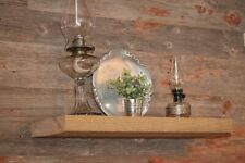 "Barn wood Floating Shelf PAIR (2) 5.5"" Reclaimed SAWN Barn Beam Solid Hardwood"