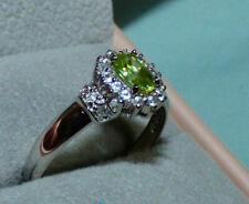 Superb Brazilian Capelinha Sphene White Gold Ring