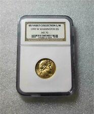 1999- W USA $5 GOLD COIN VAULT COLLECTION  WASHINGTON MS70 RARE 1/2 EAGLE