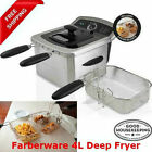 NEW Farberware 4L Deep Fryer, Stainless Steel - Local Pick Up FREESHIPPING !! photo