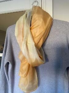 Morgan & Oates Gold 100% Silk  Scarf/Wrap