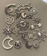 Tibetan Silver Celestial mixed charms x 23