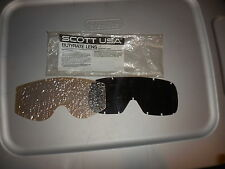 NOS Vintage Scott Goggle Butyrate Lens Adult Clear and Tinted