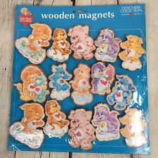 Rare NOS Care Bear Cousins 15 Pc. Wooden Hallmark Counter Magnet Display