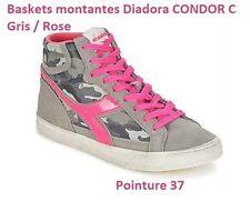 SOLDE -60% Baskets Montantes  Femme Diadora Pointure 37  CONDOR C Gris / Rose