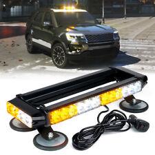 Yellow White Mix 32 LED Strobe Light Bar Rooftop Double Side Emergency Warning