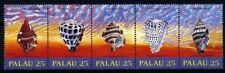 Palau 1989, Seashell set in stripe MNH, Mi 273-77 (FI1027)