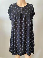 Masai Dress Tunic Top UK Size XL Large Womens Ladies Black Blue 16 18 Pockets